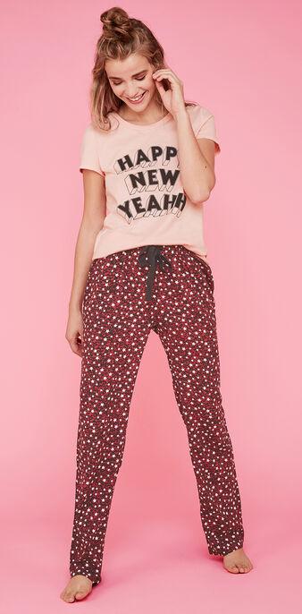 Conjunto de pijama rosa happyniz pink.