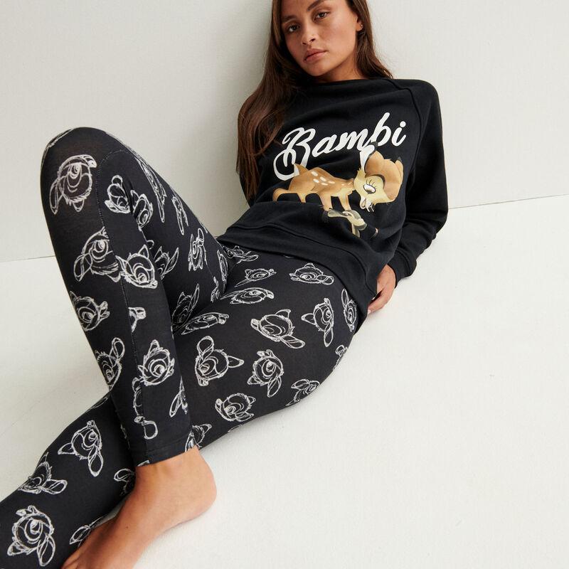 Leggings con motivos de Bambi - negro;