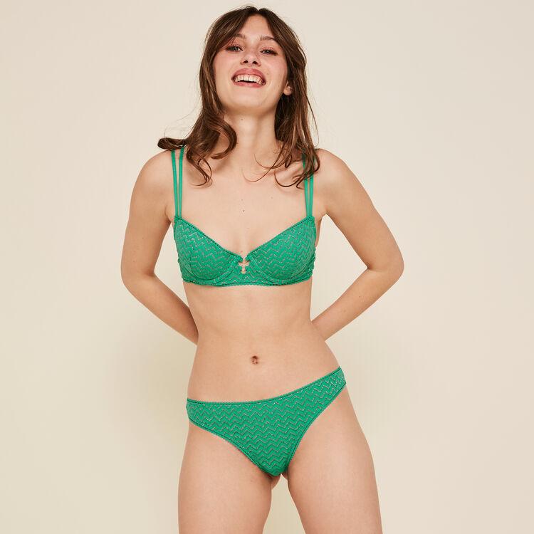 Sujetador de aumento verde esmeralda lurexiz;