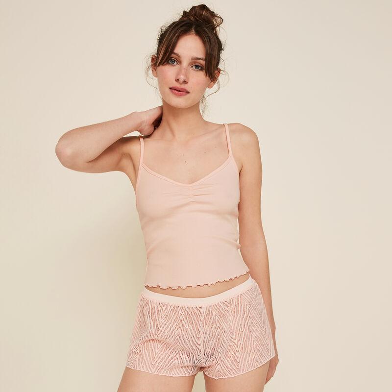 Short rosa transparente Dentebiz;