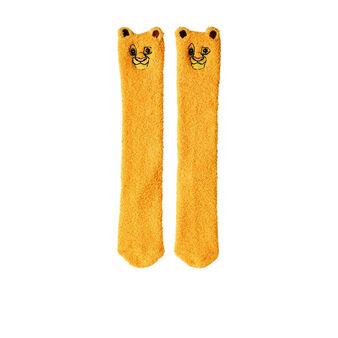 Calcetines altos amarillos simbabiz yellow.