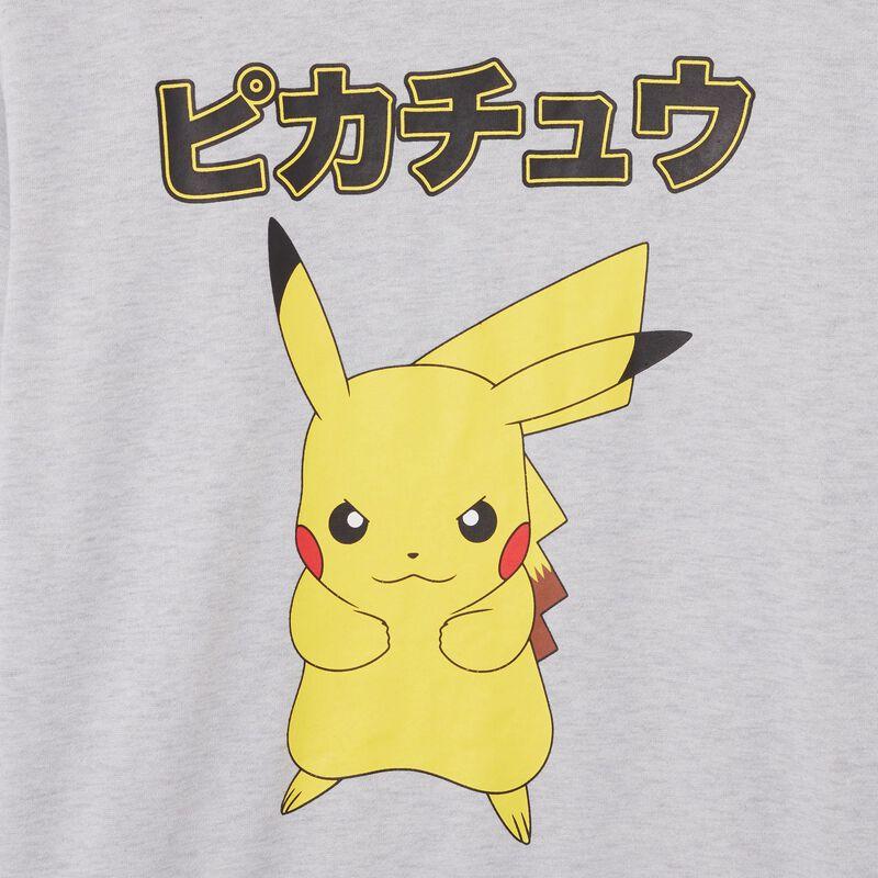 sudadera Pikachu - gris;