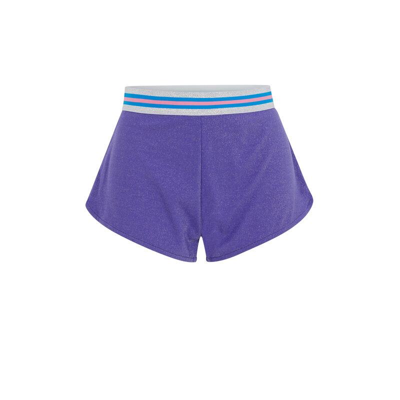 Short corto con detalle en la cintura - violeta;
