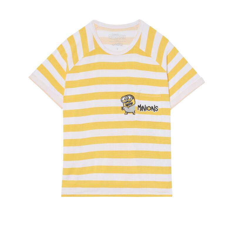 top a rayas Los Minions - amarillo;