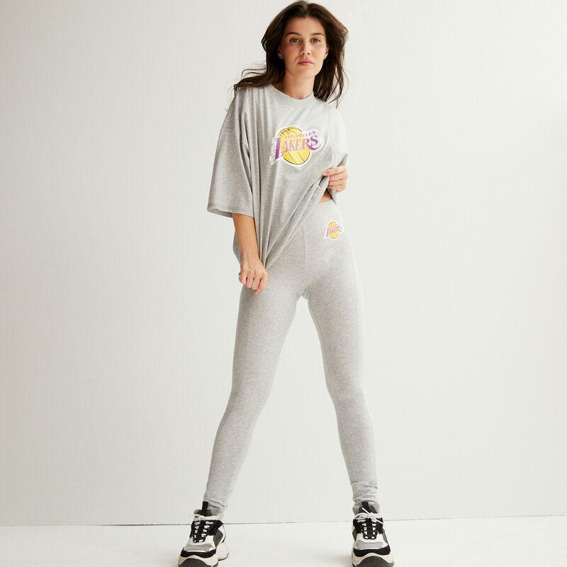 leggings los angeles lakers - gris;