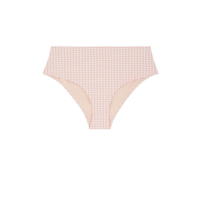 Parte de abajo de bikini braguita de talle alto - rosa;