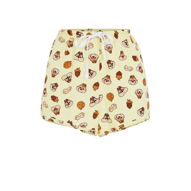 Short con estampado Chip y Chop - amarillo;