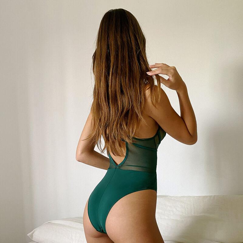 body corbeille con guipur y cintas en la espalda - abeto;
