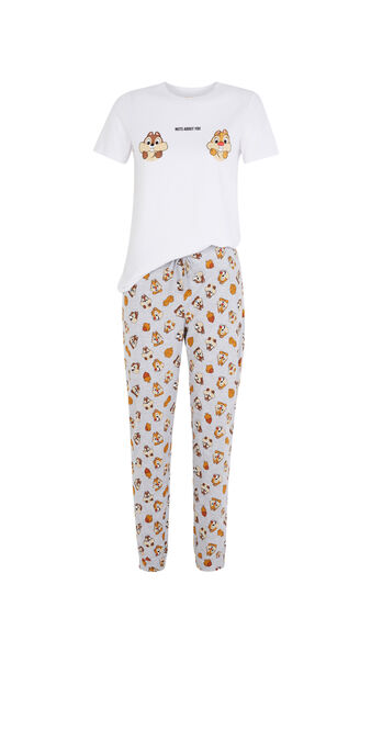 Set pyjama blanc tictakiz white.