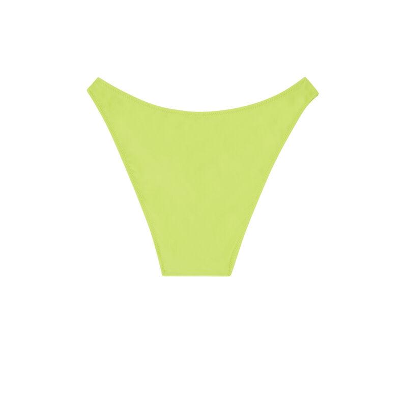 Parte de abajo de bikini braguita escotada - verde;