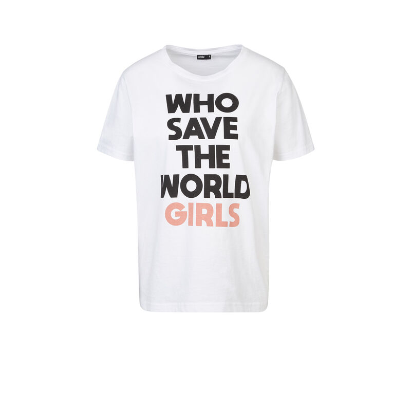 Camiseta blanca whosaviz;
