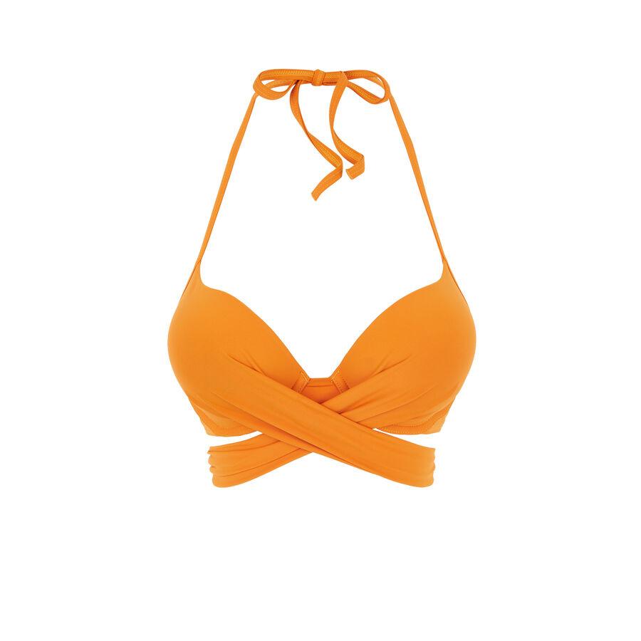 Parte de arriba de bañador súper push-up naranja fusioniz;