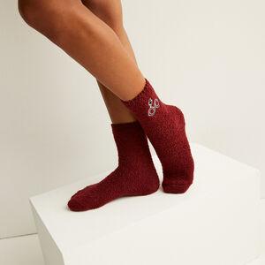 calcetines con motivos de harry potter - burdeos