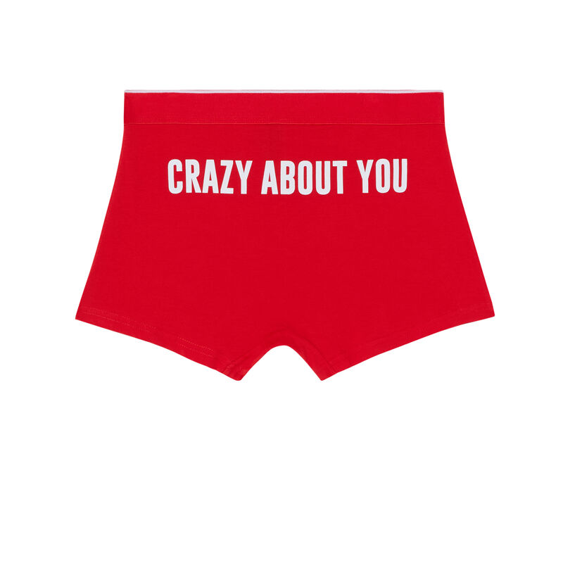 boxer crazy about you - rojo ;