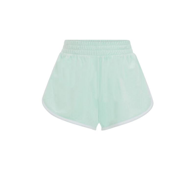 Short liso de terciopelo - azul turquesa;