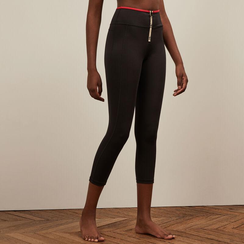 Leggings deportivos con cremallera - negros;