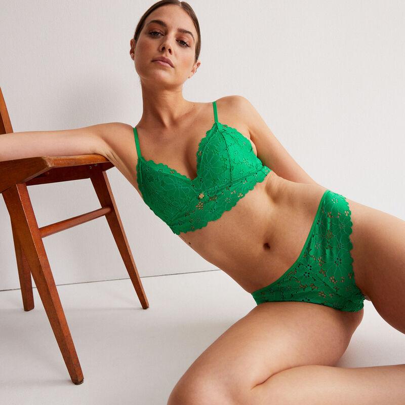 Braguita brasileña toda de encaje calado - verde;