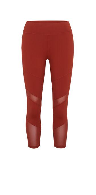 Leggings color ladrillo macrasportiz red.
