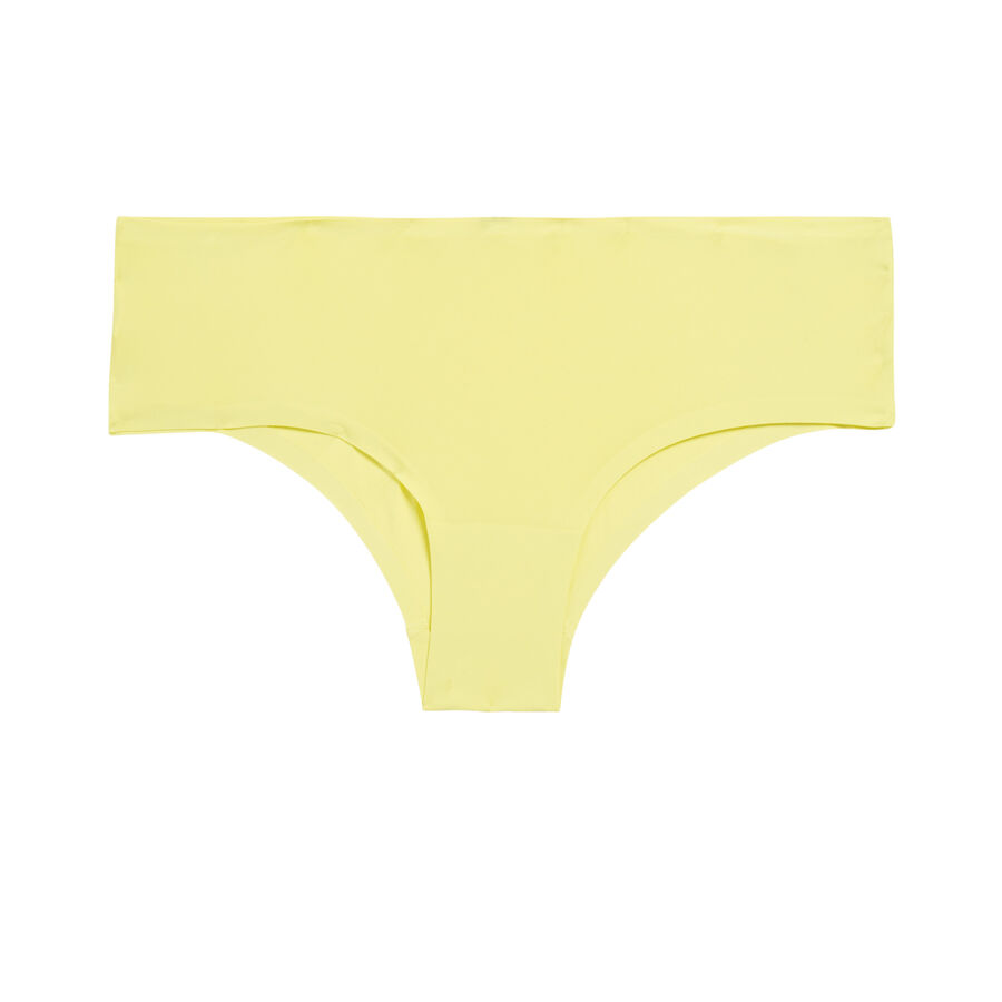 Shorty de microfibra amarillo;${refinementColor}