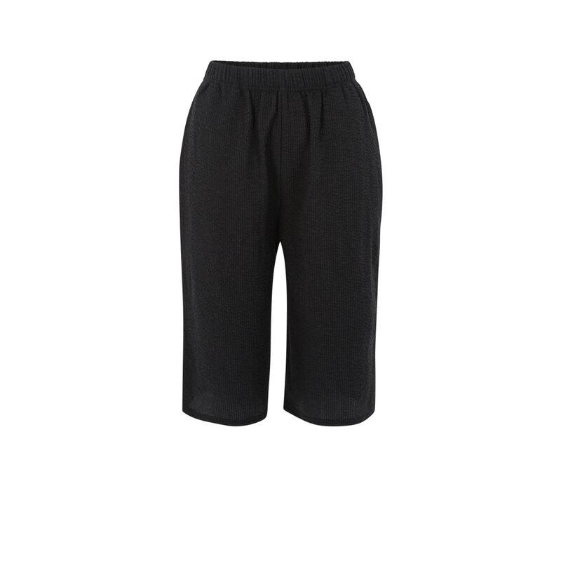 Pantalones con textura - negro;