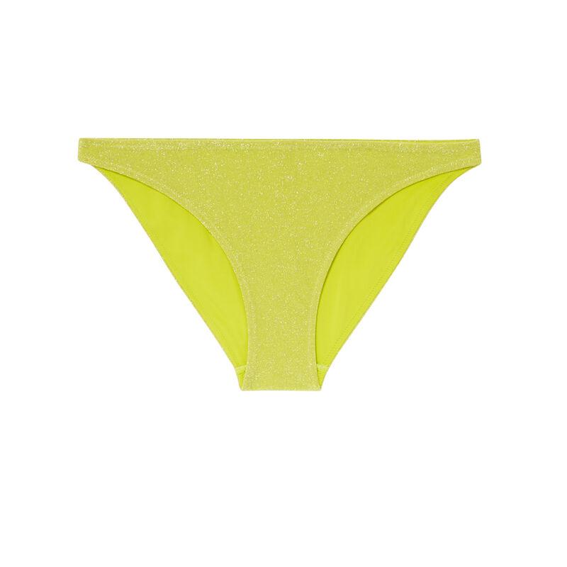 Parte de abajo de bikini braguita con lentejuelas - amarillo;