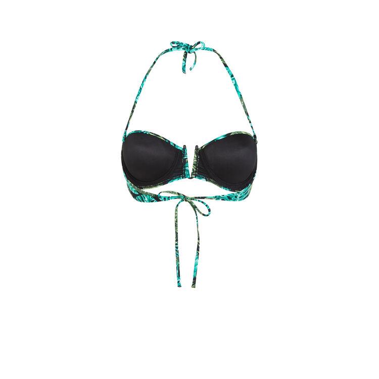 Top de bikini verde Arubaiz;