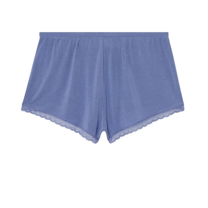 shorts lisos de punto - azul ;