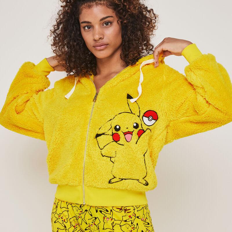 chaqueta polar con capucha con estampado pikachu pikaballiz;