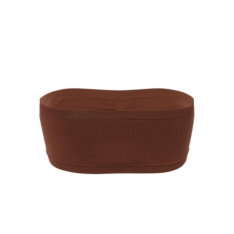 Sujetador bandeau liso - marrón;