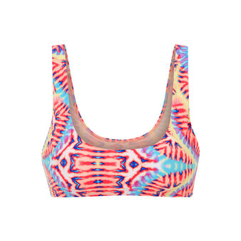 Parte de arriba de bikini multicolor neoniz white.