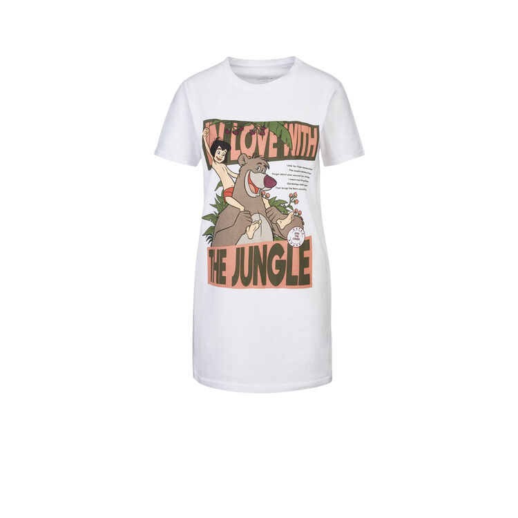 Camiseta larga blanca savejungiz;