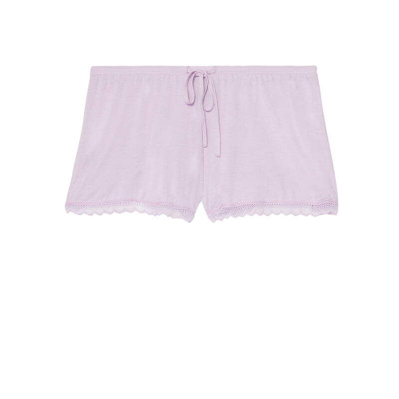 Shorts lisos de punto - morado;