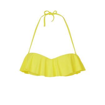 Parte de arriba de bikini amarilla citroniz yellow.