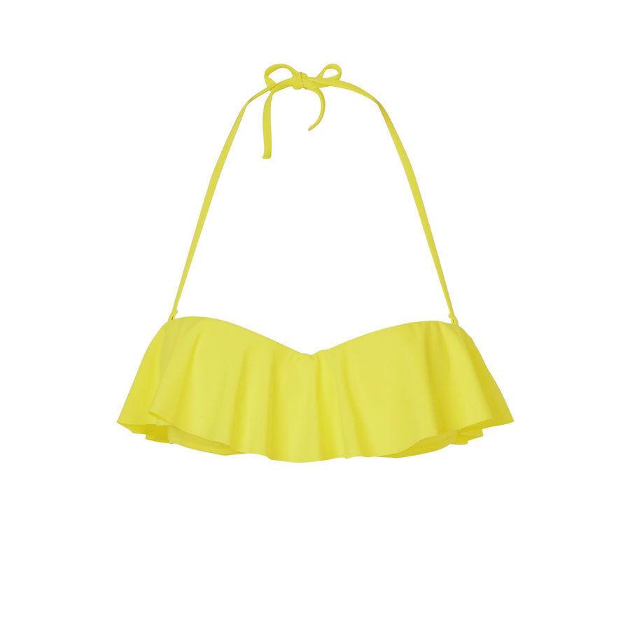 Parte de arriba de bikini amarilla citroniz;${refinementColor}