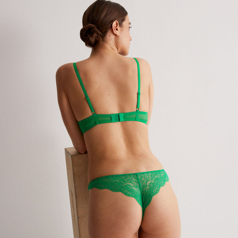 Braguita brasileña de encaje - verde;