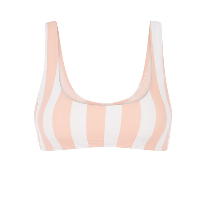 Parte de arriba de bikini sin aros pink.