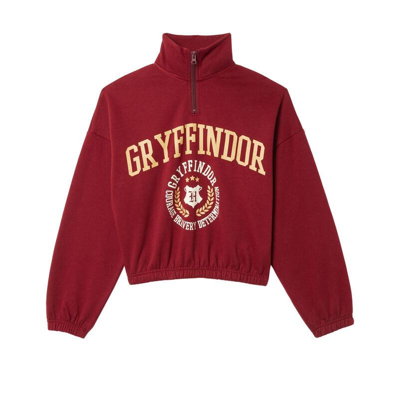 sudadera con estampado de Gryffindor - burdeos;