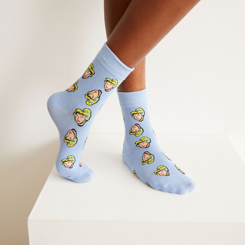 braguita y calcetines de Cenicienta - azul;