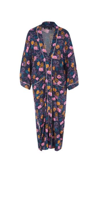 Kimono azul oscuro floritriz blue.