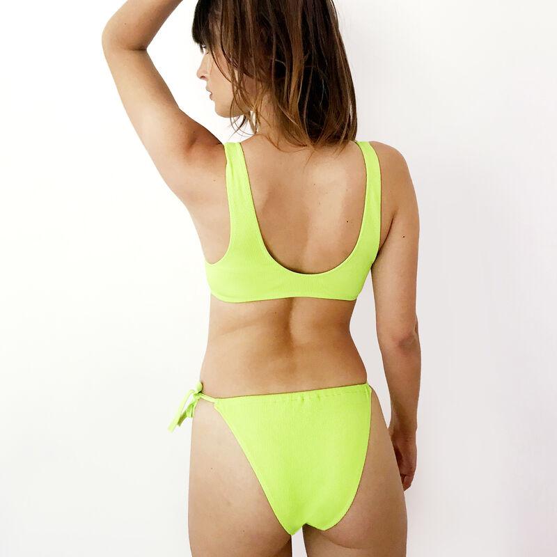 Parte de abajo de bikini a anudar - verde;