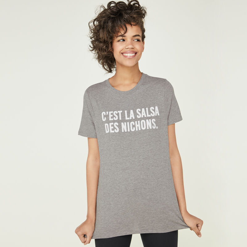 Camiseta gris salsaiz;
