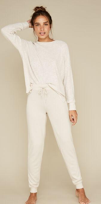 Pantalón beis quodiz white.
