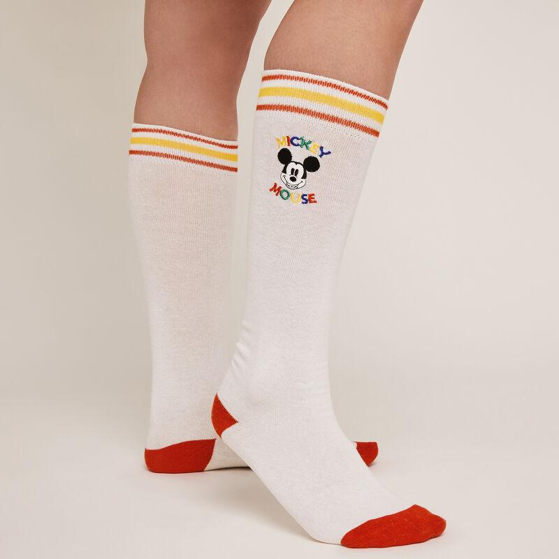 Calcetines con estampado de Mickey - blanco;