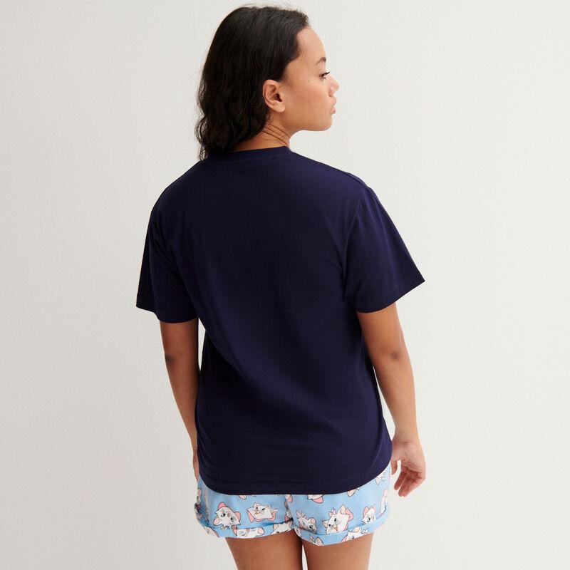 Camiseta Marie de los Aristogatos - azul marino;