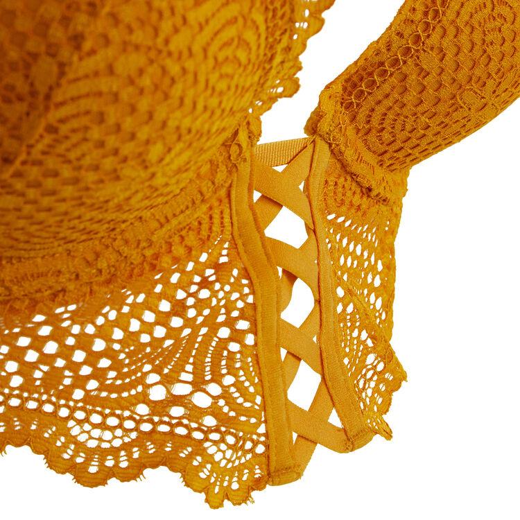 Sujetador corpiño push-up amarillo dorado mahaliz;
