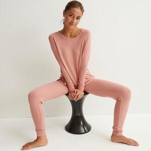Pantalón de punto - rosa nude