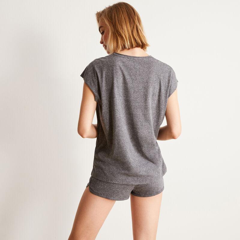 Juego de pijama liso - gris;