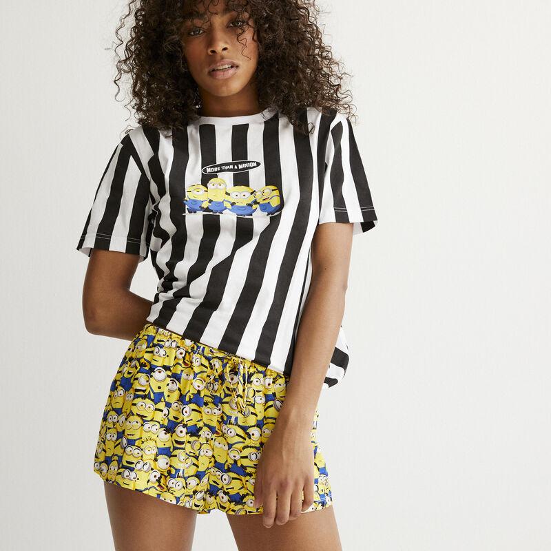 shorts con motivos Los Minions - blanco;
