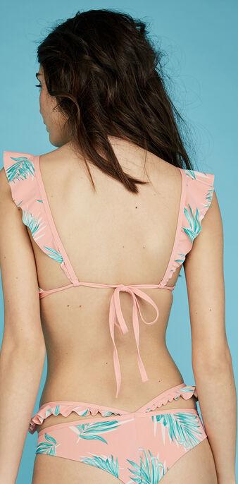 Sujetador de bikini volantiz tropical.