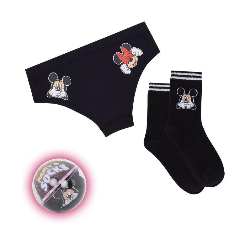 Conjunto braguita culotte + calcetines estampado Mickey ohboyiz;